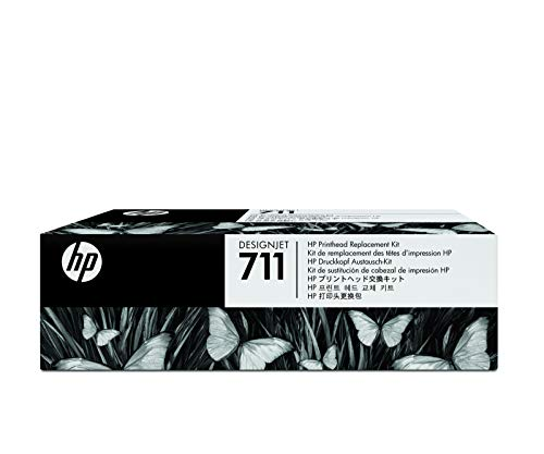 HP 711 Kit Sostituzione Testina di Stampa DesignJet C1Q10A, Testina Originale, Tecnologia InkJet, per Stampanti HP DesignJet T120, T125, T130, T520, T525, T530, Compatibile con Cartucce HP 711