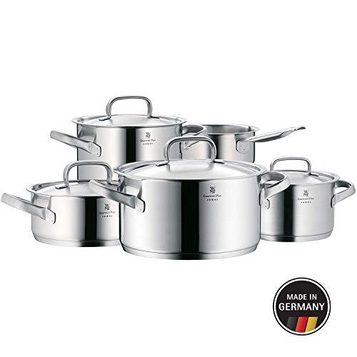 WMF Gourmet Plus-Batería de Cocina, Cromargan Acero Inoxidable, 5 Piezas, 3 olla pequeñas
