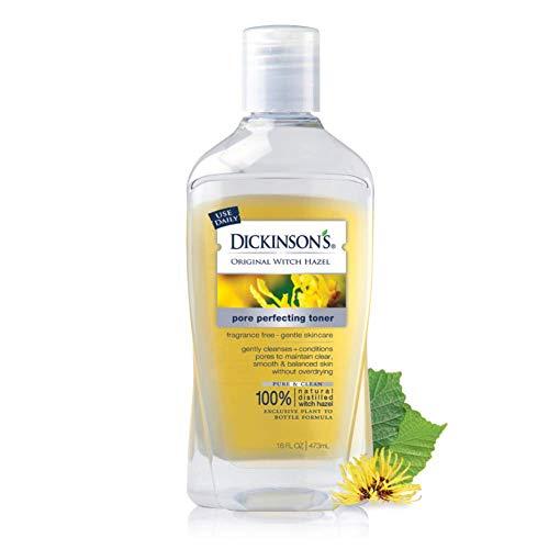Dickinson's Original Witch Hazel Pore Perfecting Toner, 100% Natural, 16 Ounce Fragrance free