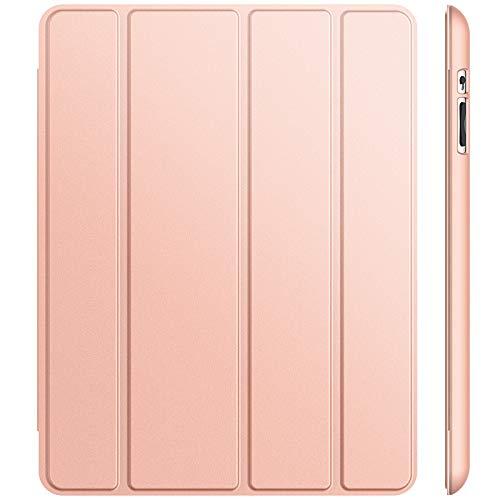 JETech Hülle Kompatibel iPad 4, iPad 3 & iPad 2, Schutzhülle mit Ständer Funktion & Auto Schlaf/Wachen, Roségold
