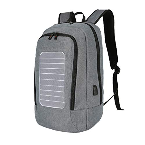XRQ Solar Portable Backpack Charger Business Laptop Bag Charge All Smartphones And Portable USB Devices 16L Volume,Gray