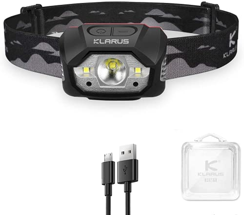 Klarus HM1 440 Lumen wiederaufladbare Gestensensor Stirnlampe, 5 Modi 70 Stunden Laufzeit, IPX6 wasserdichtes LED Stirnlampe für Laufen, Camping, Wandern, Jagen