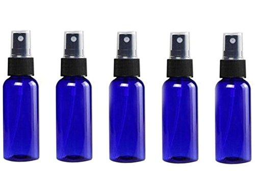 30 ml 1 oz portátil recargable de plástico azul de aceite esencial de niebla fina perfume maquillaje vacío pulverizador botella cosméticos atomizadores viaje spray bomba (6 unidades)