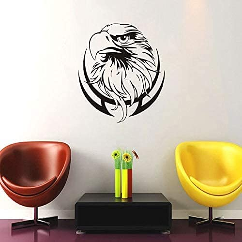 Wall Stickers Fireplace Eagle Head Branch Custom Color Children's Room...