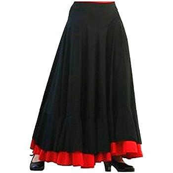 Falda Baile Flamenco Adulto Volante Rojo L: Amazon.es: Juguetes y ...