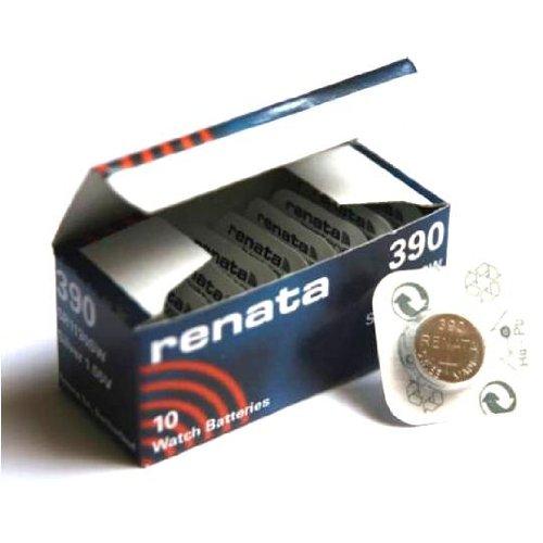 10 x Renata 390 Lithium-Knopfzelle SR1130W, hergestellt in der Schweiz