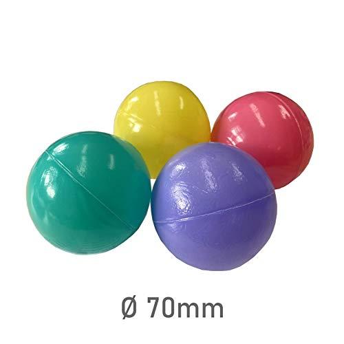 Tiktaktoo 500 Colores Bolas para Baño de Bolas 7cm Babybaelle Bolas Plásticas Bebé Bolas de Juego
