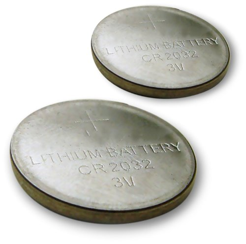 Good Times CR-2032 Lithium Button Style Battery for Watches and Small Electronics - 2 Pack
