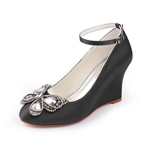 Emily Bridal Zapatos de Novia de Marfil Zapatos de Novia de cuña...