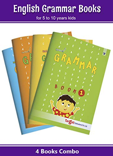 Nurture English Grammar Books for Kids   5 to 10 Year Old Children   Grammar and Composition Practice Exercises with Answers for Primary Students   Book 1 to 4 - Pack of 4 Books