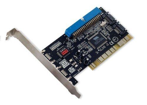 Portable & Gadgets Syba SD-VIA-1A2S Combo IDE(1)/SATA(2) PCI Card Software RAID, VIA VT6421A