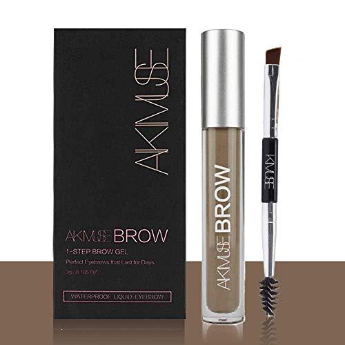 Sourcils Gel,ROMANTIC BEAR Waterproof Longue Durée Crayon de Maquillage Eyebrow Colors Gel With Brush Set,Anti-décoloration (Brunette)