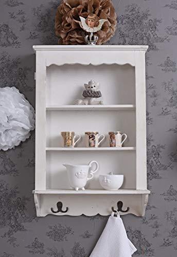 Unbekannt Wandregal Landhausstil Küchenregal Handtuchhaken Handtuchhalter Wandboard mxa071 Palazzo Exklusiv