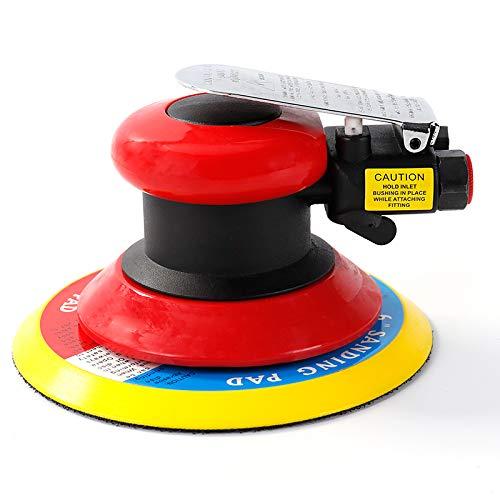 Lijadora orbital neumática de 6 pulgadas, herramienta de aire alimentada por aire, lijadora de palma, lijadora de aire DA para automoción de cuerpo automático, trabajo de madera