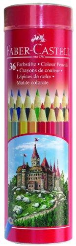 Faber-Castell 115828 - 36 Buntstifte in einer Metall-Runddose