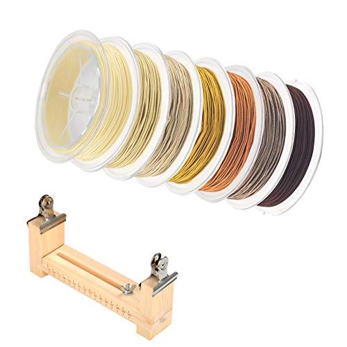 JKGHK Nylon Kraal Weven Draad Kralen Draad Snoer Geschikt Voor Gevlochten Armbanden, Kleurenpakken, Gratis Gevlochten Touwhouder,Apricot series