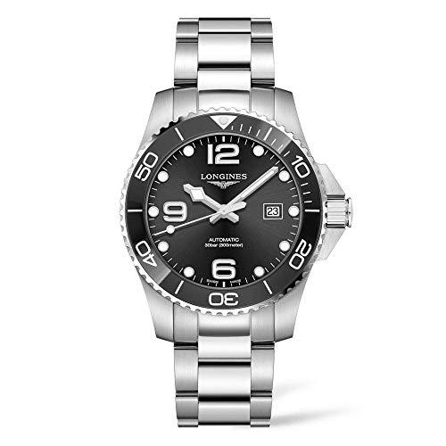 Longines HYDROCONQUEST L37824566 - Reloj de buceo automático (cerámica, 43 mm)