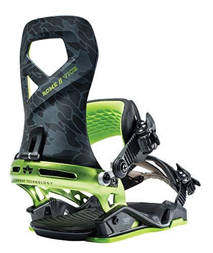 Rome Snowboards Vice Snowboard Bindings, Acid Camo, Large/X-Large
