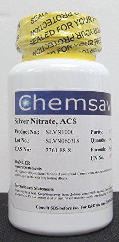 Silver Nitrate, ACS, 99.9+%, 100g