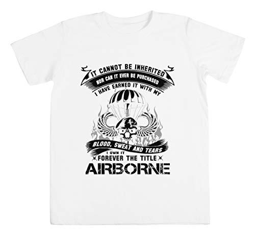 Airborne Infantry Mom Airborne Jump Wings Airborne Badge Airborne Brot Unisexo Niño Niña Camiseta Blanco Tamaño XS Unisex Kids Boys Girls's T-Shirt White Size XS