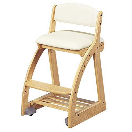 KOIZUMI(コイズミ学習机) 学習椅子 NS/アイボリー W41.3×D49.5~54.5×H75㎝ SH44・47・50・53cm(外寸) 4ステップチェア アイボリー色 FDC-055NSIV