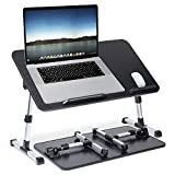 Laptop Desk for Bed,Veramz Adjustable Computer Bed Desk,Foldable Sofa Breakfast Tray,Laptop Table for Eating, Working, Writing, Drawing(Balck)