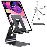 Soporte Ajustable para Tablet Mesa, Brazos Más Largos Mejorados para Mayor Estabilidad, Soporte para iPad OMOTON con Diseño Hueco para Móviles y Tabletas, como iPad Pro 12.9 11 10.2/ Air 4 3 2 Negro