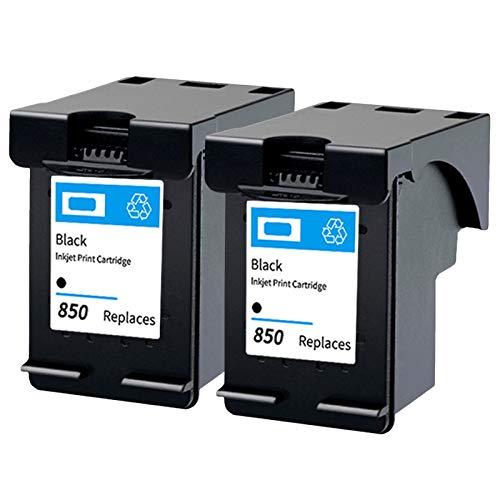 Cartucho de tinta 850, repuesto para impresora HP Deskjet 5420 5440 Officejet 6300 Photosmart 2570 C4100 PSC 1507 compatible con cartuchos de tinta negro y negro