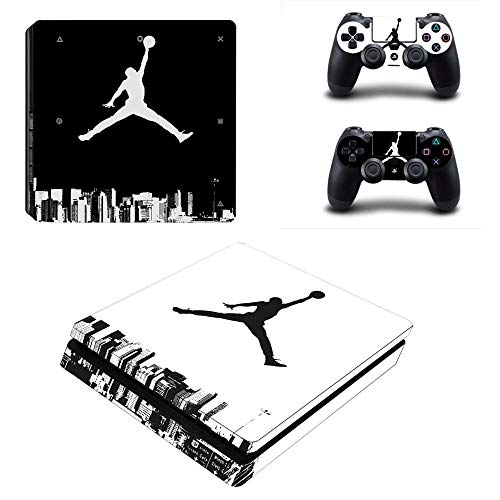 YISHO PS4 Slim Skin Sticker Decal Vinyl for Playstation 4 Console and 2 Controllers PS4 Slim Skin Sticker (1)