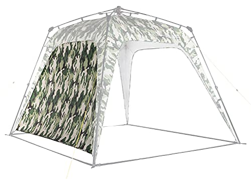 Lumaland Outdoor Seitenteil für Pop Up Pavillon Seitenwand für Gartenzelt Camping Partyzelt Zelt Camouflage-Grün