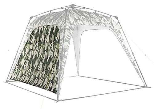 Where Tomorrow Pared Lateral Adicional para Gazebo de Camping - Carpa Plegable para Acampada, Jardín o Terraza – Cenador Impermeable para Exteriores – 2.5 x 2.5 x 1.9 Metros / Verde Camuflaje