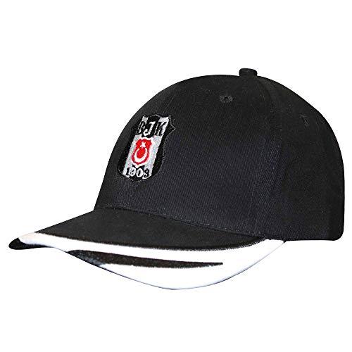 Besiktas JK (Super Lig) Football Crest Baseball Cap (100% Baumwolle) schwarz