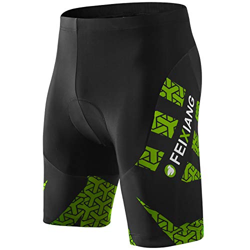 MEETWEE Men's Cycling Shorts, 4D Padded Cycling Underwear Breathable Anti-Slip Bike Undershort Bicycle MTB Shorts