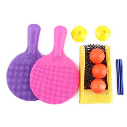 Courti Juego De Tenis De Mesa con Red Retráctil Y Bolas De 3 Piezas, Juego De Paletas De Ping Pong para Niños En Interiores Al Aire Libre