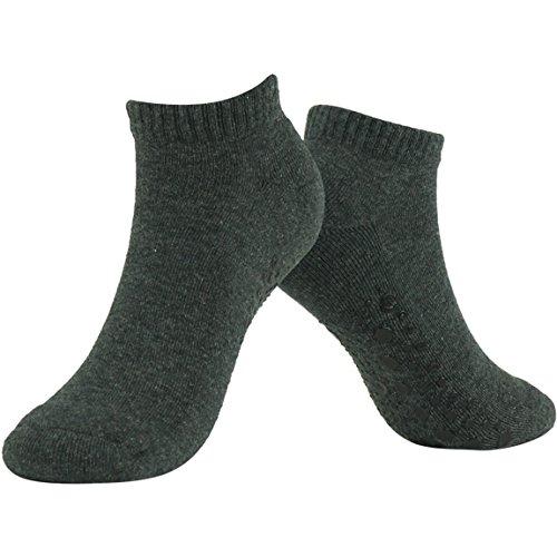 3street Women's Girl's Yoga Socks Grip for Exercise, Training, Workout, Fitness & Pilates,Dark Grey