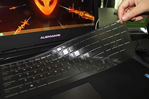 Leze - Ultra Thin Soft Keyboard Protector Skin Cover for Dell Alienware 18(2013 Version), Alienware 17 R2 R3 R4 R5(2015/2016/2018 Version),Such as Alienware AW17R4,AW17R3 AW17R5 Gaming Laptop - TPU