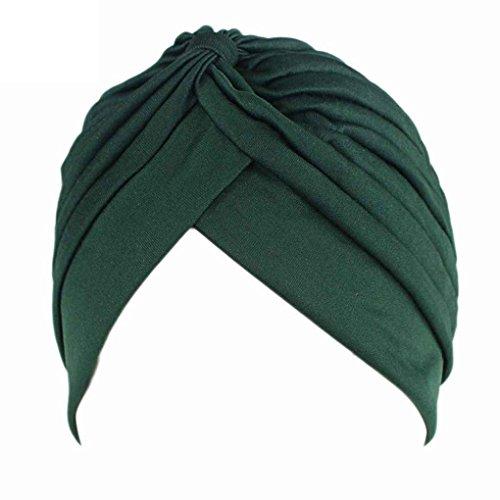 Bobury Cuello pre-Atado de Plumas con Capucha de Chemo para Mujer Capucha de Punto Capucha de Turbante de Sol