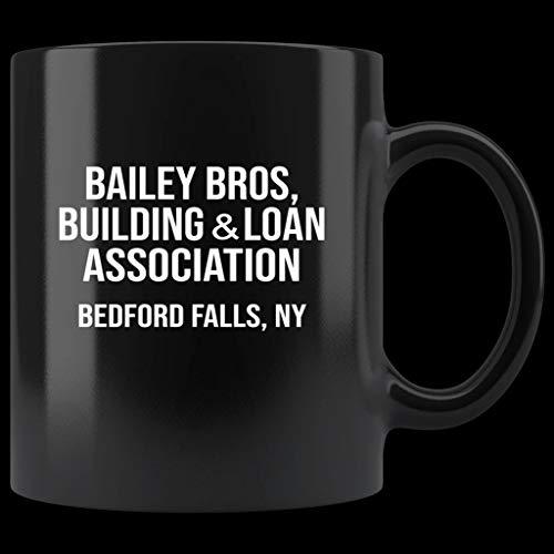 Bailey Bros Building & Loan Association Black Coffee Mug