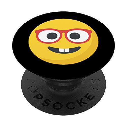 Nerd mit Brille Emoticon - PopSockets Ausziehbarer Sockel und Griff für Smartphones und Tablets
