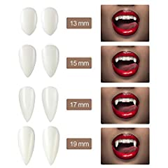 8 Pieces Halloween Vampire Teeth Fangs Vampire Choker Earrings Bracelets Gothic Costume Jewelry for Victorian Vampire Halloween Party, Zombie Cosplay Party Supplies #3