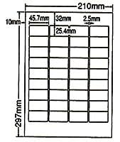 LDW36A-2 OAラベル ナナワード (45.7×25.4mm 36面付け A4判) 2梱(レーザー、インクジェットプリンタ用。上質紙ラベル)マルチタイプ