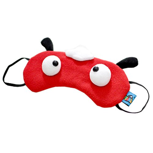 Lot de 2 Creative Cartoon Eye Masque drôle visière souple, Rouge mouton