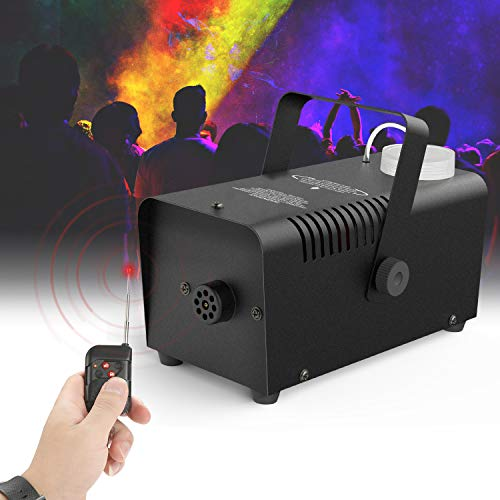 Halloween Fog Machine Wireless Control- Fansteck Professional Wireless Remote Smoke Machine for Christmas Parties Weddings - Quick Generation of Huge Fog 2000 CFM, with Fuse Protection