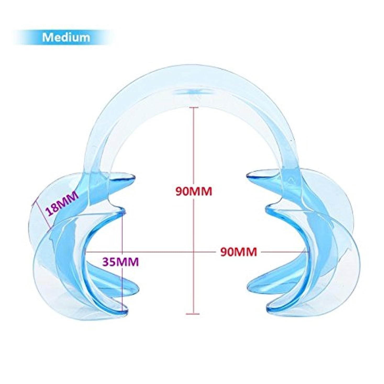 共感する先に十分ではない3サイズC形状歯科口腔内頬リトラクター唇口オープナー歯ホワイトニング10個,Blue,M