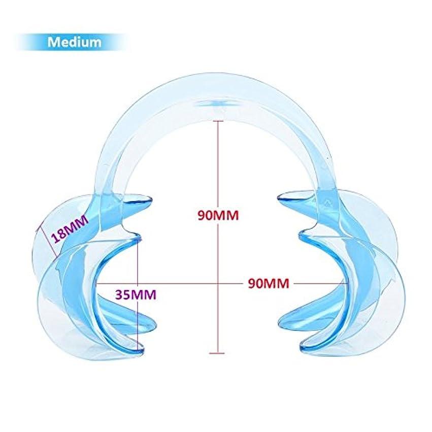 ピストンレイアウト累積3サイズC形状歯科口腔内頬リトラクター唇口オープナー歯ホワイトニング10個,Blue,M