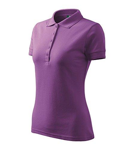 Adler Polohemd Poloshirt für Damen Pique Polo 200 lila Größe XL