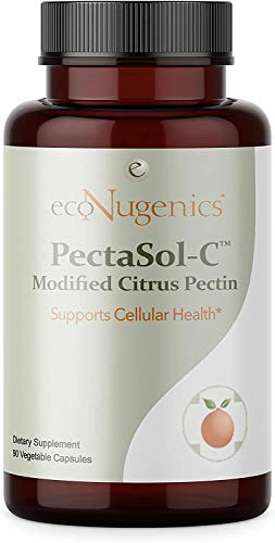 Price comparison product image ecoNugenics PectaSol-C Modified Citrus Pectin / Professionally Formulated to Help Maintain Healthy Galectin-3 Levels / Supports Cellular & Immune System Health / Safe & Natural (90 Capsules)