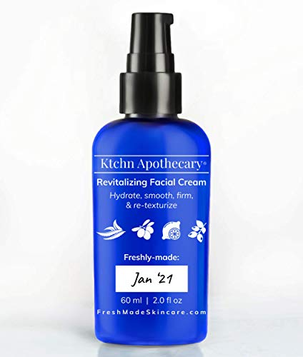 Revitalizing Natural Facial Moisturizer | Hydrating Face Cream with Powerful Anti Aging Extracts | Visibly Reduce Wrinkles | Organic & Natural Extracts | Normal, Sensitive, Dry, or Mature Skin | Women & Men