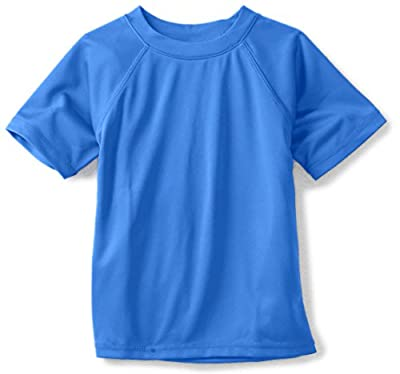Kanu Surf Boys' Big Short Sleeve UPF 50+ Rashguard Swim Shirt, Solid Royal, X-Large (14/16)