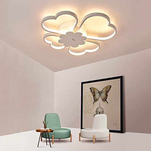 Dormitorio Luces de techo 36W Creativo Diseño de trébol de cuatro hojas Pantalla acrilica Ojo protegido por LED Araña moderna Sencillo europeo Ideal para Sala de estar I Cuarto de los niños,warmlight